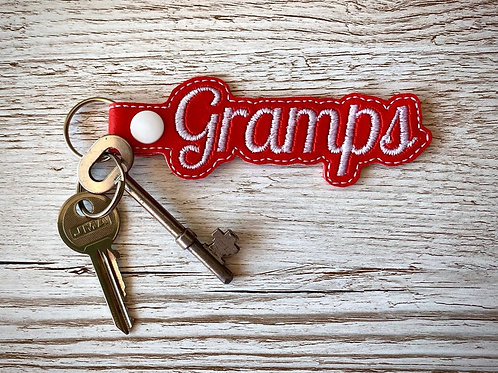 Gramps Faux Leather Key Fob