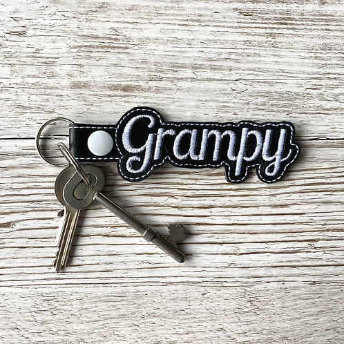Grampy Faux Leather Key Fob