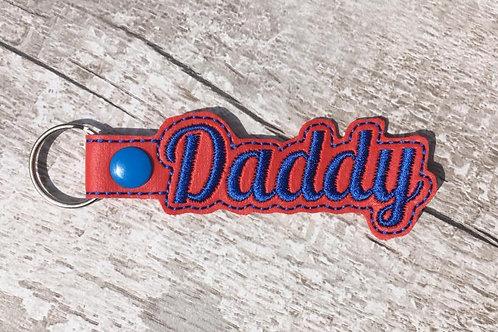Daddy Faux Leather Key Fob
