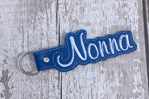 Nonna Faux Leather Key Fob