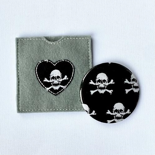 Pocket Mirror, Skull and Crossbones