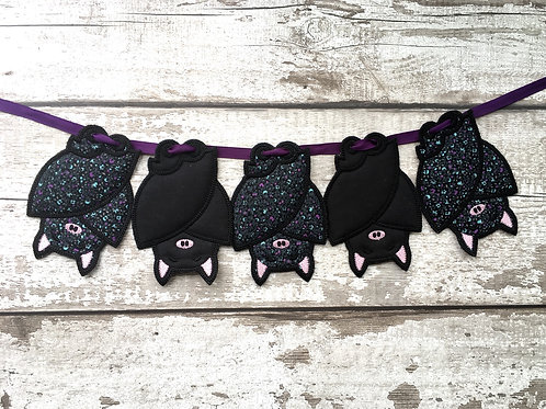 Sleepy Bats Fabric Bunting