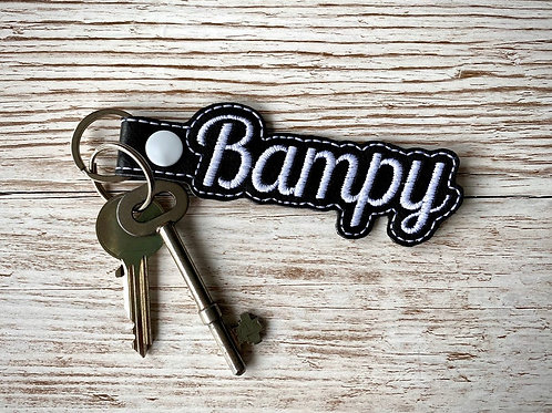 Bampy Faux Leather Key Fob