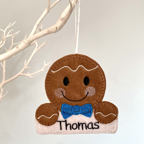Personalised Gingerbread Christmas Tree Decoration