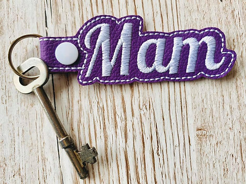 Mam Faux Leather Key Fob