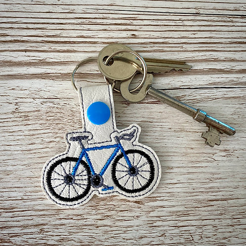 Bicycle Faux Leather Key Fob