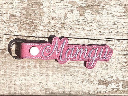 Mamgu Faux Leather Key Fob