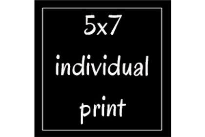 Prints: 5x7 individual
