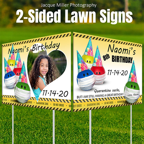 Celebrate: Double-sided yard sign