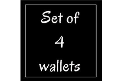 Prints: Set of 4 wallets