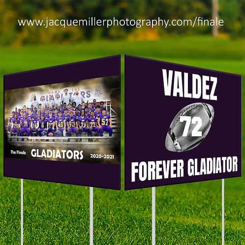 The Finale: Gavit Football double-sided yard sign