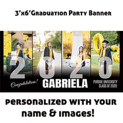 3'x6' Graduation Party Banner