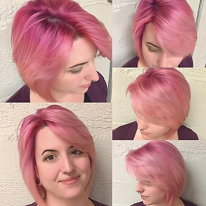 Instagram photo from @TheSalonbyRobert of client with Pink ombre hair, don't care