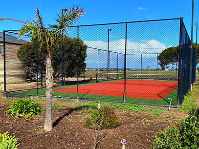 Pegs Place Tennis Court at Port Victoria. Farmstay by the Beach. Pegs Place. Yorke Peninsula. South Australia. Yorke Peninsula Accomodation.