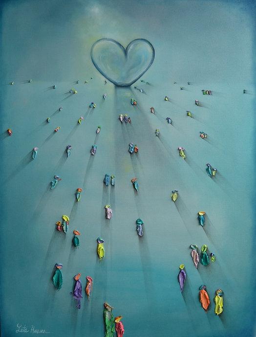 Herrera, Children's Path to Hope, Oil,30