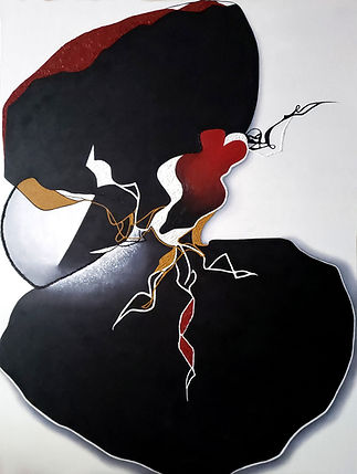 Echoed Desires_2020_36X48_ oil_on_canvas