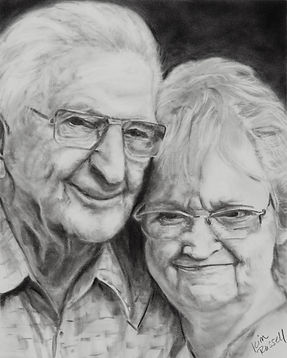 Frank and Lou graphite on paper 11 x 14