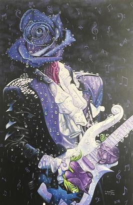 PRINCE Purple Rain Music Rain Painting 3