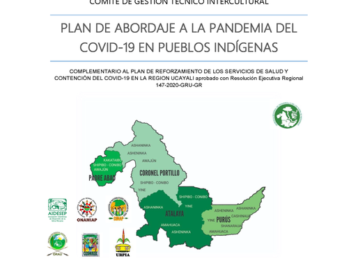 Ucayali Releases Regional Plan for Addressing COVID-19 in Indigenous Populations