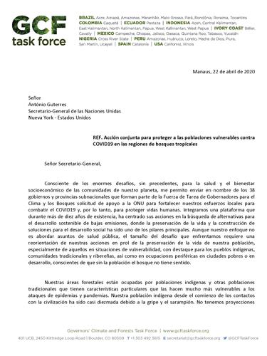 Carta de Gobernador de Amazonas