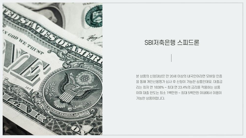 제2금융권 대출 종류 및 한도