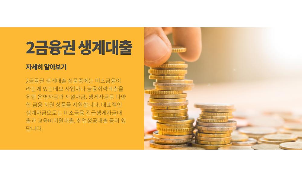 2금융권 생계대출