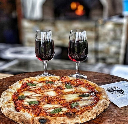 Black Prince Winery Barrel House Pizza Red Wine Pizza