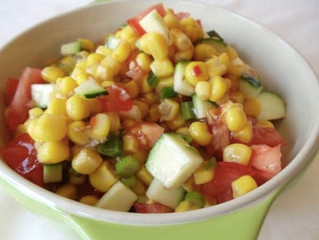 Corn Salad with Garden Vegetables