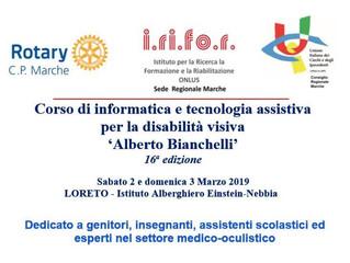 16° EDIZIONE CORSO INFORMATICA IPO E NON VEDENTI - 2 E 3 MARZO 2019