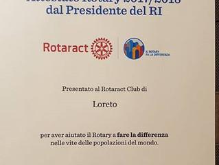 Rotaract Loreto Attestato 2017-2018