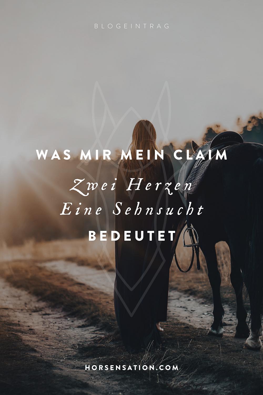 """Was mir mein Claim """"Zwei Herzen, eine Sehnsucht"""" für den friedvollen Pferdeumgang bedeutet"""