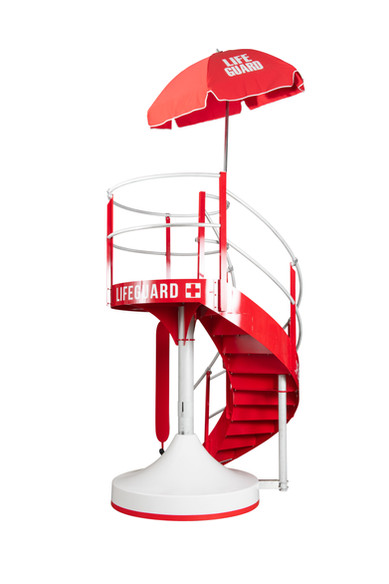 Rear View of HALO Lifeguard Stand