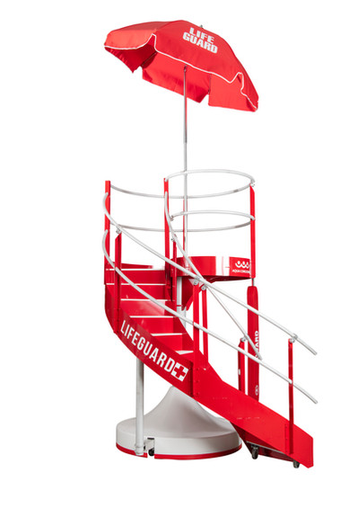Rear/Side View of HALO Lifeguard Stand