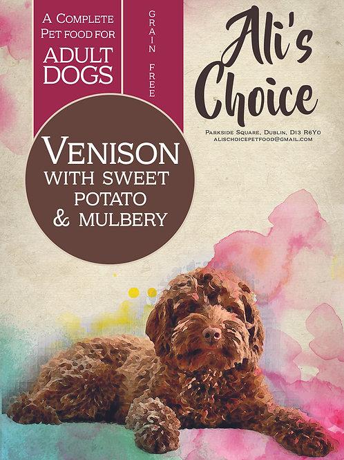 GF Venison with Sweet Potato & Mulberry