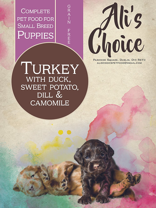 GF Small Breed Puppy Turkey with Duck, Sweet Potato, Dill & Camomile