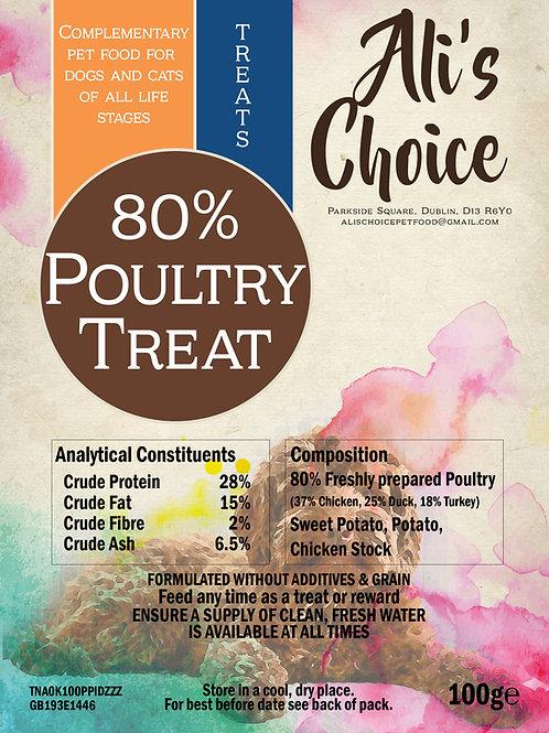80% Poultry Treats