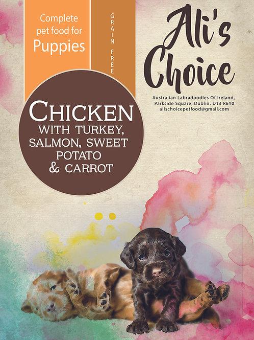 Puppy Chicken with Turkey, Salmon, Sweet Potato & Carrot