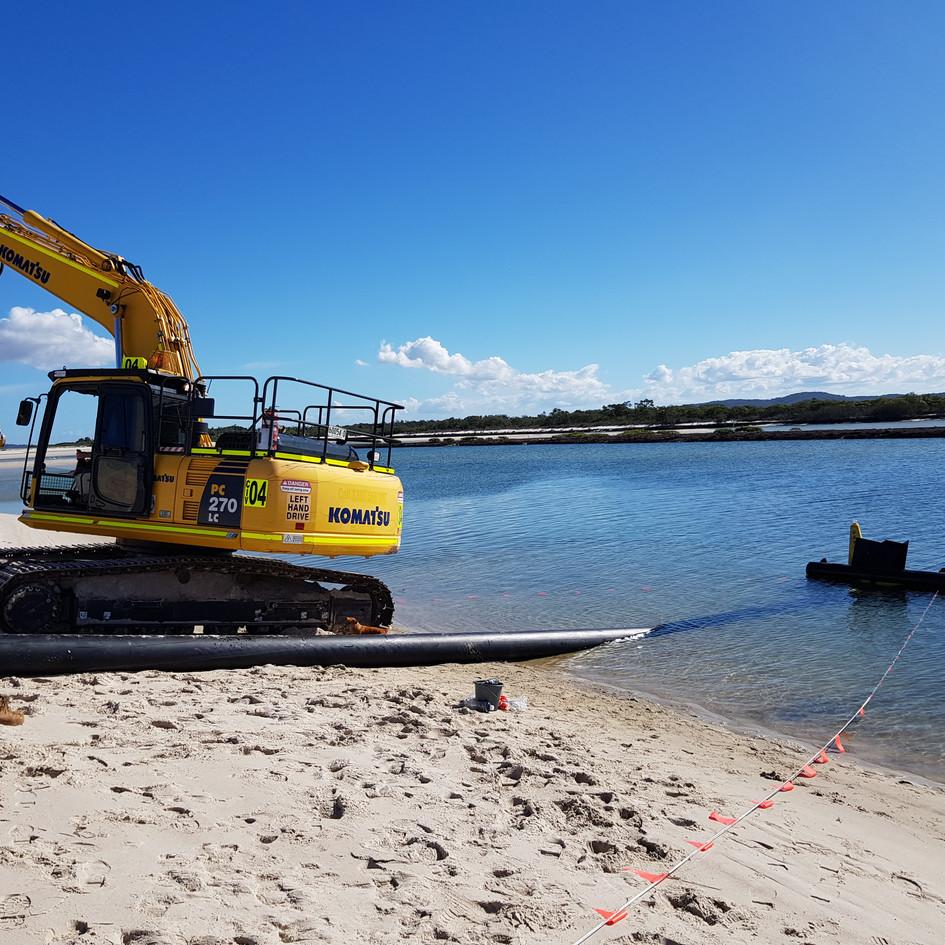 Jimmy's Beach Sand Transfer Station   Hawks Nest, NSW