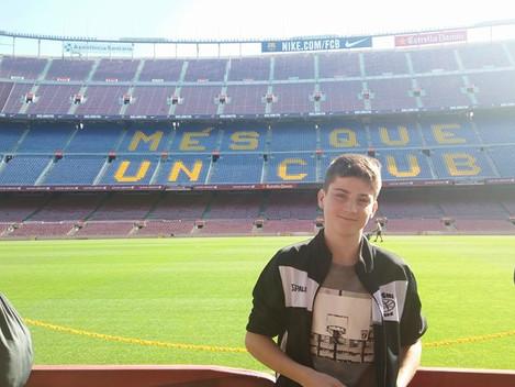Kuba Trusina v Barceloně
