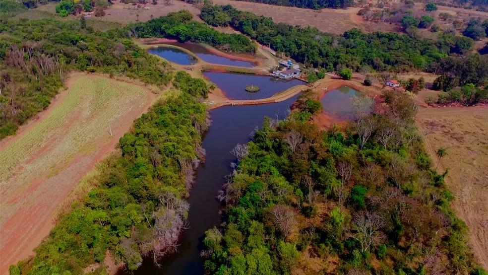 Complexo ETA 1 / ETA 2, Sítio das Covas, responsável por 70% do abastecimento de Casa Branca. — Foto: VANDER FILHO.