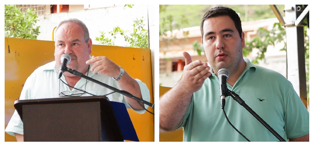 Dr. Ricardo Ribeiro Florido (Prefeito de São Sebastião da Grama) e Delloro Serafim (Vereador e Presidente da Câmara de Vereadores de S. S. Grama)