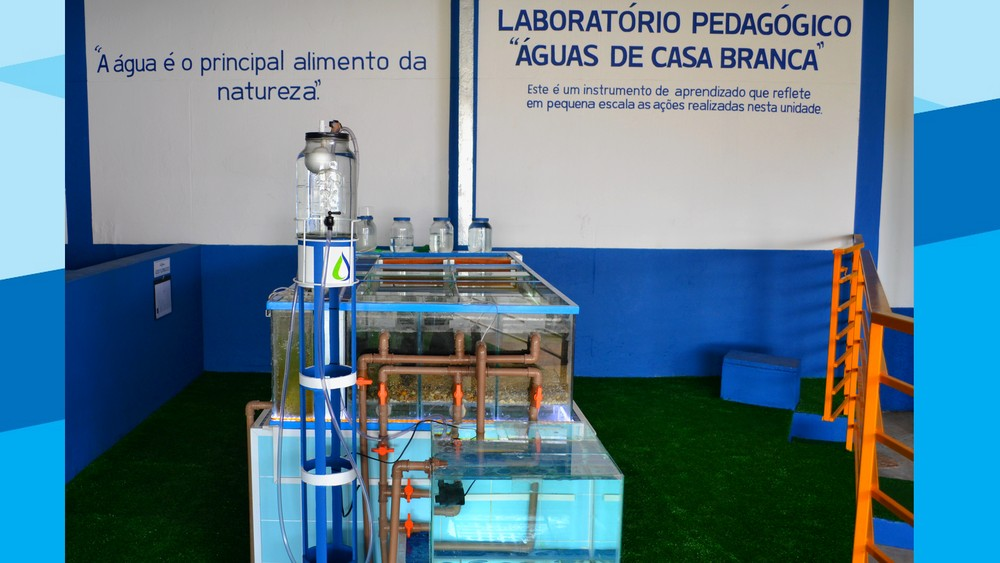 Laboratório pedagógico Águas de Casa Branca — Foto: Sueli Dorta / Vander Filho