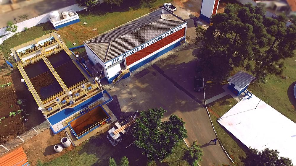 Estação de tratamento de água de São Sebastião da Grama - Foto: VANDER FILHO