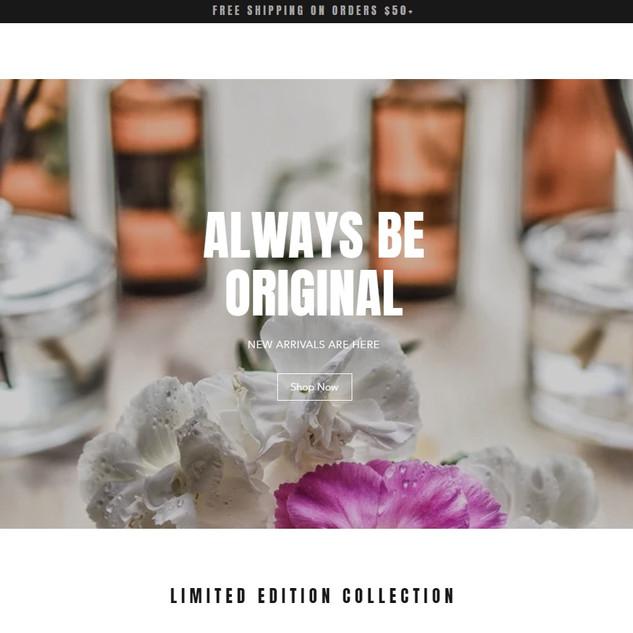 natural skincare online store website