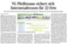 OVZ-Artikel: VG Pleissenaue sichert sich Internetadressen für 22 Orte