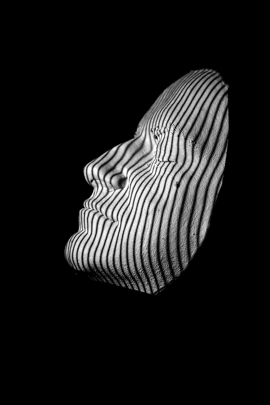 structured light 3d scanner example, face scan