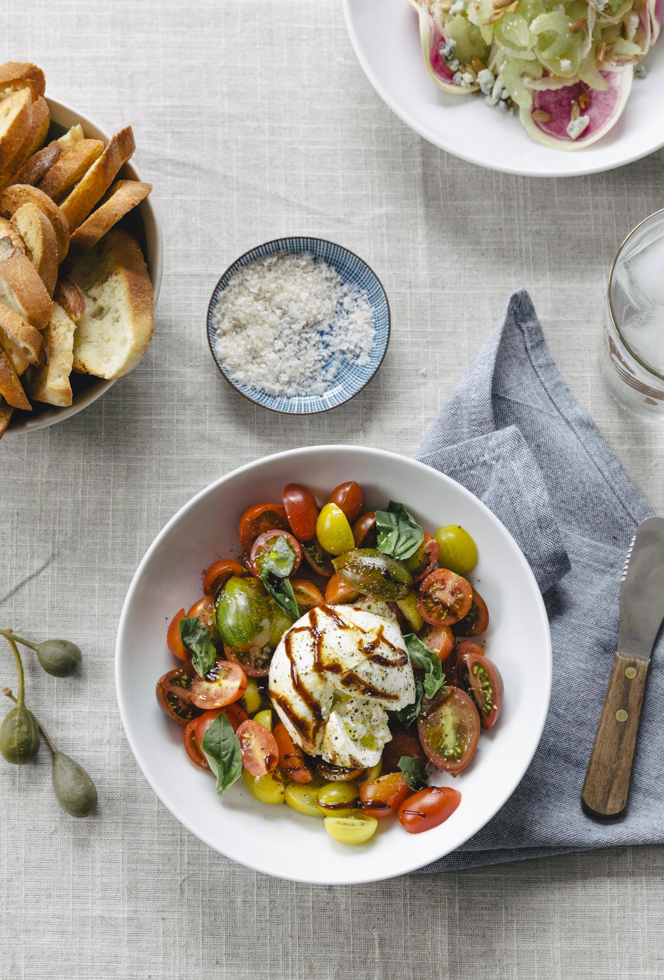 Heirloom Tomatoes & Burrata