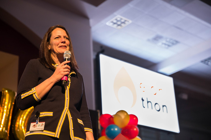 President Dr. Connie Ledoux Book kicked off Elonthon 2018 with an inspiring speech about living life with a philanthropic heart.