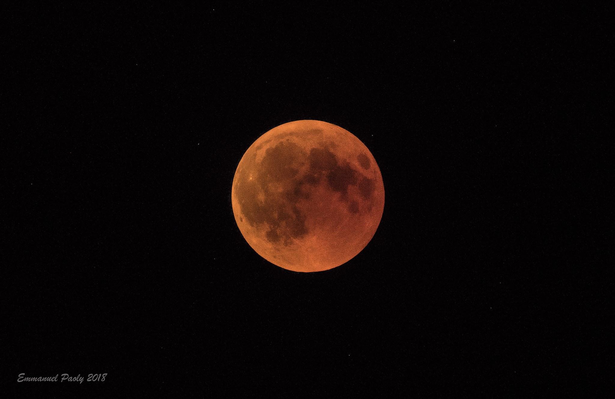 La lune éclipsée