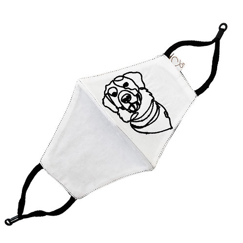 Cotton Masks 3 Ply Reversible Black and white